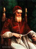 Portrait of Pope Julius II painting reproduction, Raphael Sanzio
