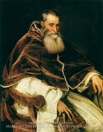 Portrait of Pope Paul III by Titian