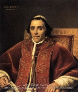 Portrait of Pope Pius VII by Jacques-Louis David