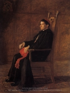 Portrait of Sebastiano Cardinal Martinelli painting reproduction, Thomas Eakins