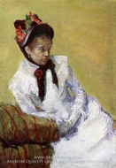 Portrait of the Artist painting reproduction, Mary Cassatt