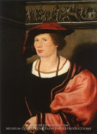 Portrait of the Junker Benedikt von Hertenstein by Hans Holbein, The Younger