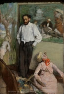 Portrait of the Painter Henri Michel-Levy painting reproduction, Edgar Degas