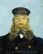 Portrait of the Postman Joseph Roulin painting reproduction, Vincent Van Gogh