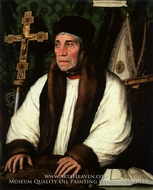 Portrait of William Warham, Archbishop of Canterbury by Hans Holbein, The Younger