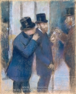 Portraits at the Stock Exchange painting reproduction, Edgar Degas