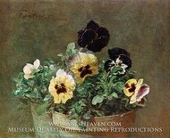 Potted Pansies painting reproduction, Henri Fantin-Latour