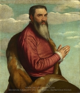 Praying Man with a Long Beard painting reproduction, Moretto Da Brescia