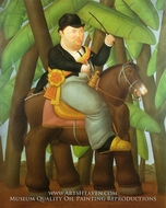 President painting reproduction, Fernando Botero