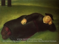 Priest Extends painting reproduction, Fernando Botero
