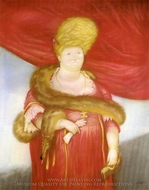 Prima Donna painting reproduction, Fernando Botero