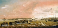 Prison Hulk in Portsmouth Harbour painting reproduction, Ambrose Louis Garneray