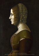 Profile Portrait of a Lady painting reproduction, Giovanni Ambrogio De Predis