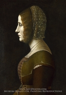 Profile Portrait of a Lady by Giovanni Ambrogio De Predis