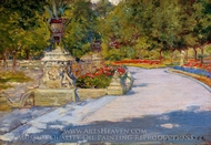 Prospect Park painting reproduction, William Merritt Chase