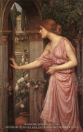 Psyche Entering Cupids Garden by John William Waterhouse