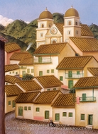 Pueblo painting reproduction, Fernando Botero