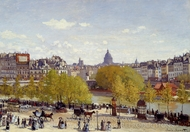 Quai du Louvre painting reproduction, Claude Monet