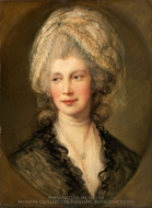 Queen Charlotte painting reproduction, Thomas Gainsborough