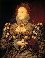 Queen Elizabeth I painting reproduction, Nicholas Hilliard