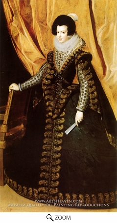 Painting Reproduction of Queen Isabella, Diego Velazquez