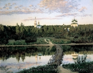 Quiet Abode painting reproduction, Isaak Levitan