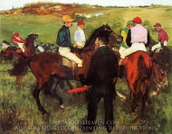 Racehorses at Longchamp painting reproduction, Edgar Degas