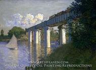 Railroad Bridge, Argenteuil by Claude Monet