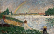 Rainbow painting reproduction, Georges Seurat