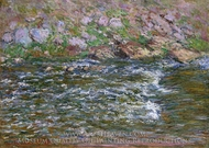 Rapids on the Petite Creuse at Fresselines painting reproduction, Claude Monet