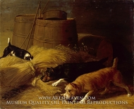 Rats amongst the Barley Sheaves by Thomas Hewes Hinckley