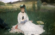 Reading (Portrait of Edma Morisot) painting reproduction, Berthe Morisot