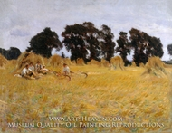 Reapers Resting in a Wheat Field painting reproduction, John Singer Sargent
