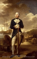 Rear-Admiral Richard Kempenfelt painting reproduction, Tilly Kettle