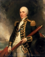 Rear-Admiral Sir Alexander John Ball painting reproduction, Henry William Pickersgill