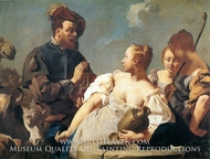 Rebecca at the Well painting reproduction, Giovanni Battista Piazzetta