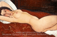 Reclining Nude painting reproduction, Amedeo Modigliani