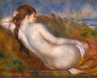 Reclining Nude painting reproduction, Pierre-Auguste Renoir