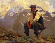 Reconnoitering painting reproduction, John Singer Sargent