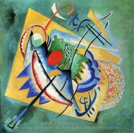 Red Oval painting reproduction, Wassily Kandinsky