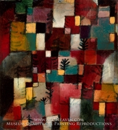 Redgreen and Violet-Yellow Rhythms by Paul Klee