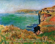 Reef at Varengeville by Claude Monet