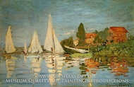Regatta at Argenteuil painting reproduction, Claude Monet