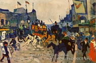 Regent Street, London painting reproduction, Andre Derain