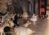 Rehearsal of Ballet on the Stage by Edgar Degas