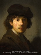 Rembrandt as a Young Man by Rembrandt Van Rijn