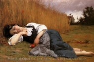Rest in Harvest painting reproduction, William Adolphe Bouguereau