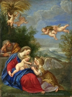 Rest on the Flight into Egypt painting reproduction, Francesco Albani
