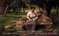 Resting painting reproduction, Priou Louis Maternite Champetre
