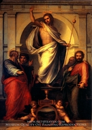 Resurrected Christ with Saints painting reproduction, Fra Bartolommeo